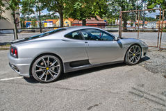 Italian sports car angle 2 Royalty Free Stock Images