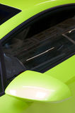 Italian sports car in green Royalty Free Stock Images