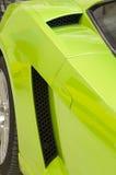 Italian sports car in green Stock Photography