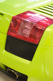 Italian sports car in green Royalty Free Stock Photo