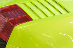 Italian sports car in green Stock Photo