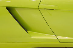 Italian sports car in green Stock Images