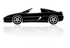 Italian sports car silhouette vector icon Royalty Free Stock Photo