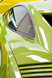 Italian sports cars in green and yellow Royalty Free Stock Photography