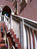Italian Stairway. Color Photograph of a marble staircase to second floor royalty free stock photos