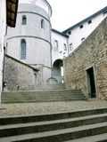 Italian Stairway in Cividale del Friuli. Old stairway in Cividale Italy Royalty Free Stock Image