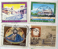 Italian Stamps royalty free stock photo