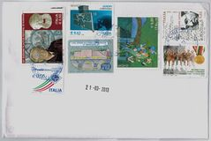 Italian stamps Stock Photos