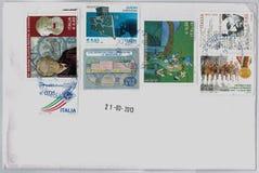 Italian stamps Stock Photos