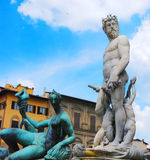 Italian Statues. Michelangelo's statues in Florence, Italy stock photography