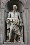 Italian Statues. Michelangelo`s statues in Florence, Italy Stock Images