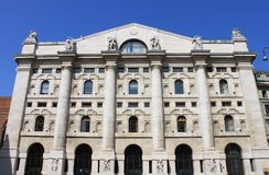 Italian Stock Exchange in Milan stock image