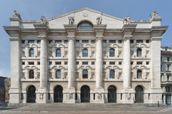 Italian Stock Exchange in Milan Royalty Free Stock Images