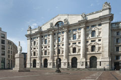 Italian Stock Exchange in Milan Stock Photography