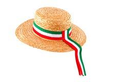 Italian straw hat Stock Photos