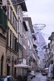 Italian street. Modern architecture in Italy, Classical Italy, the streets of Italy, the Italian city, Florence,the streets of Florence Royalty Free Stock Image
