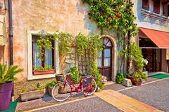 Italian street old architecture in Lazise Royalty Free Stock Images