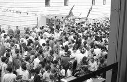 Italian street party, Clerkenwell. The Italian street party in Warner Street, Clerkenwell, London on July 21, 1990. The event follows the annual Catholic Royalty Free Stock Photos