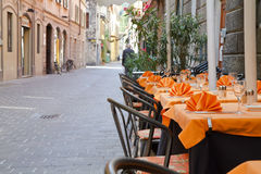 Italian street restaurant Royalty Free Stock Photo