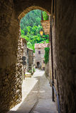 Italian street in a small provincial town of Tuscan Stock Image