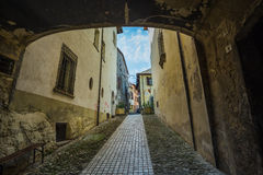 Italian street in a small provincial town of Tuscan Stock Photo