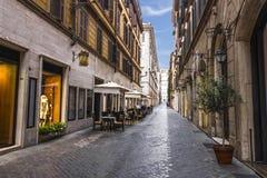 Italian Street Via Borgogna in Rome, Famous Shopping Street. royalty free stock images