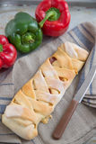 Italian Stromboli Bread Stock Photo