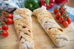 Italian Stromboli Bread Royalty Free Stock Photography