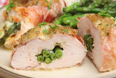 Italian Stuffed Chicken Breasts Royalty Free Stock Images