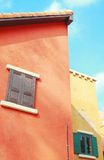 Italian style building with blue sky Stock Image