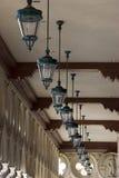 Italian Style Ceiling Lamps in a Row in Venetian , Las Vegas stock photo