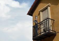 Italian style door, on ivy wall Royalty Free Stock Photography