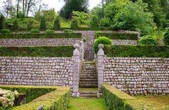 Italian style garden, Polcenigo Stock Image