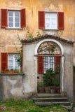 Italian style house. Entrance (Tessin Royalty Free Stock Photography