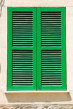 Italian style shutters Stock Photo