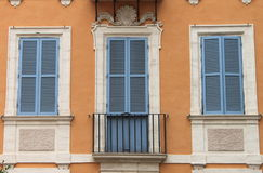 Italian style shutters Royalty Free Stock Images