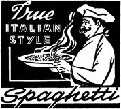 Italian Style Spaghetti Royalty Free Stock Image