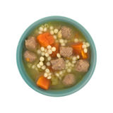 Italian style wedding soup in a bowl top view Royalty Free Stock Photos