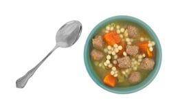 Italian style wedding soup Stock Image