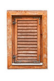 Italian style wooden window with closed shutter blinds Stock Images