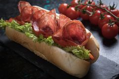 Italian submarine sandwich Stock Photography