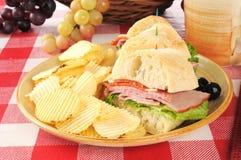 Italian submarine sandwich Royalty Free Stock Photography