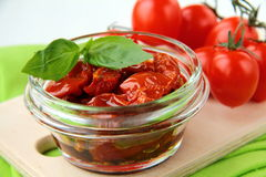 Italian sun dried tomatoes in olive oil Stock Photography