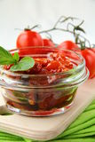 Italian sun dried tomatoes in olive oil Stock Image