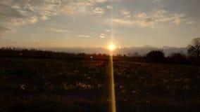Italian sunrise stock image