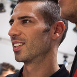 Italian superbike pilot Marco Melandri at EICMA 2013 in Milan, Italy Royalty Free Stock Image