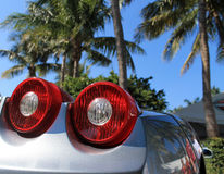 Italian  supercar tail lamps Stock Photos