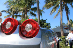 Italian  supercar tail lamps Royalty Free Stock Images