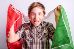Italian supporter Royalty Free Stock Image