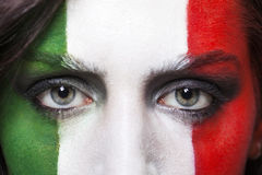 Italian supporter for FIFA 2014 closeup Stock Image